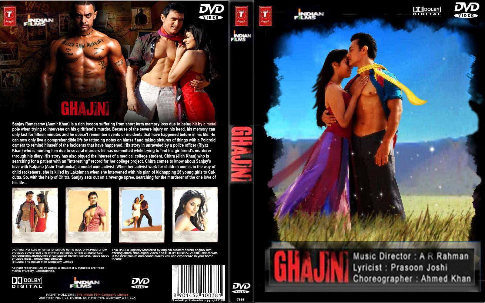 Ghajini 2008 720p Upscaled x264 AC3 Multi Subs [DMN] preview 0