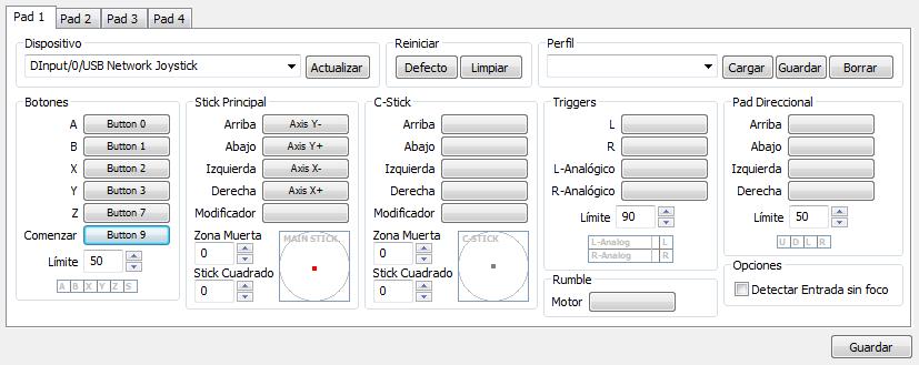 configurar joysticks usb pc como wiimote o gc pad en