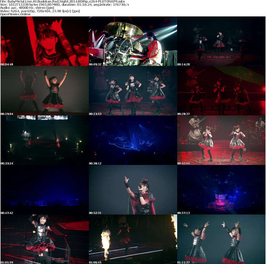 BabyMetal Live At Budokan Red Night 2014 BDRip x264-PLUTONiUM