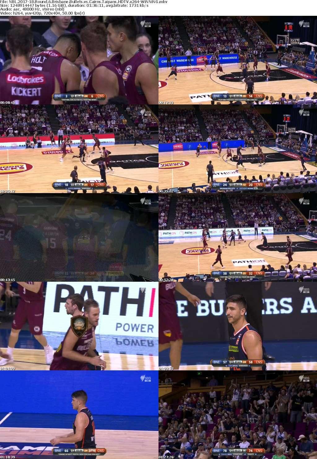 NBL 2017-18 Round 6 Brisbane Bullets vs Cairns Taipans HDTV x264-WiNNiNG