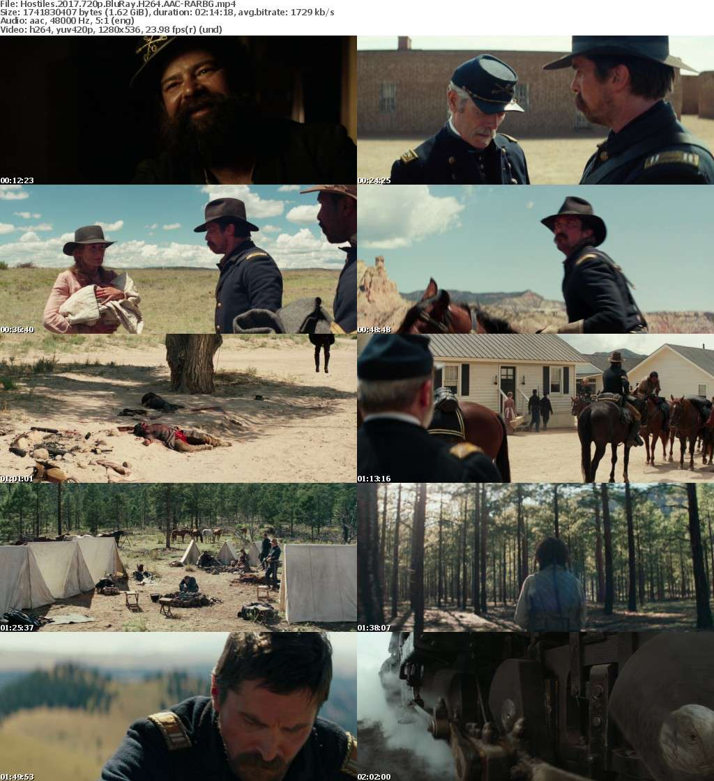 Hostiles (2017) 720p BluRay H264 AAC-RARBG