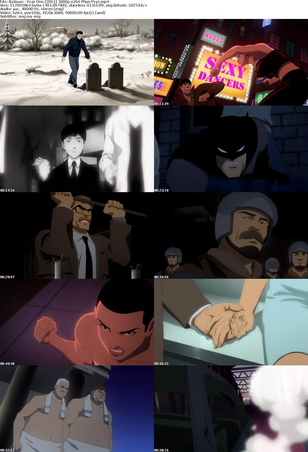 Batman - Year One (2011) 1080p BluRay x264-Phun.Psyz
