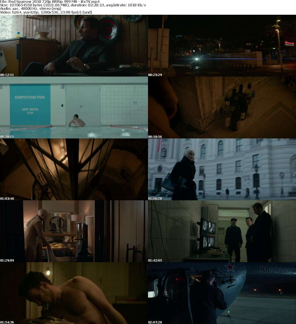 Red Sparrow (2018) 720p BRRip 999 MB - iExTV