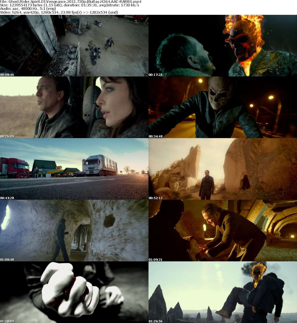 Ghost Rider Spirit Of Vengeance 2011 720p BluRay H264 AAC-RARBG