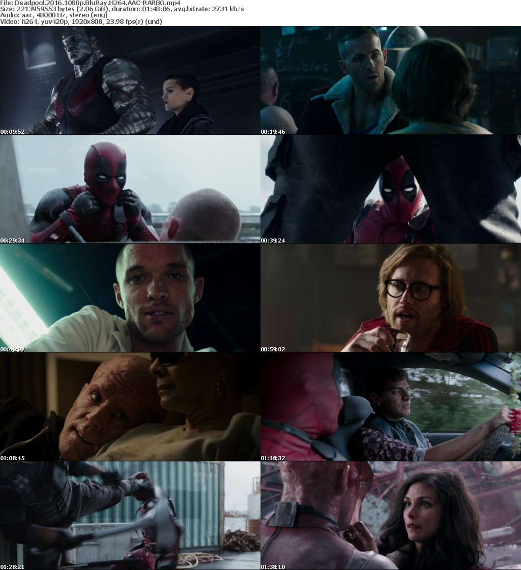Deadpool (2016) 1080p BluRay H264 AAC-RARBG
