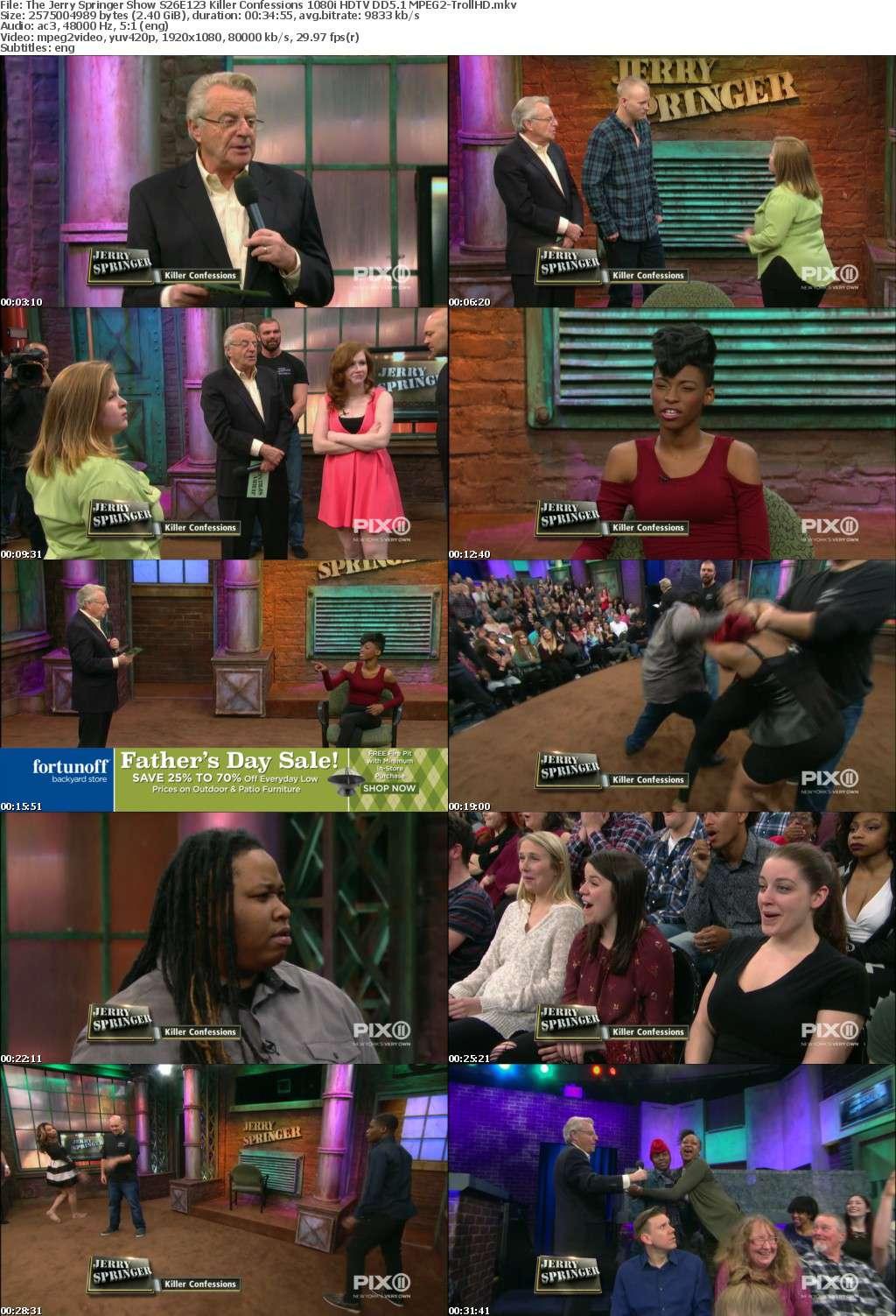 The Jerry Springer Show S26E123 Killer Confessions 1080i HDTV DD5 1 MPEG2-TrollHD - MPEG2