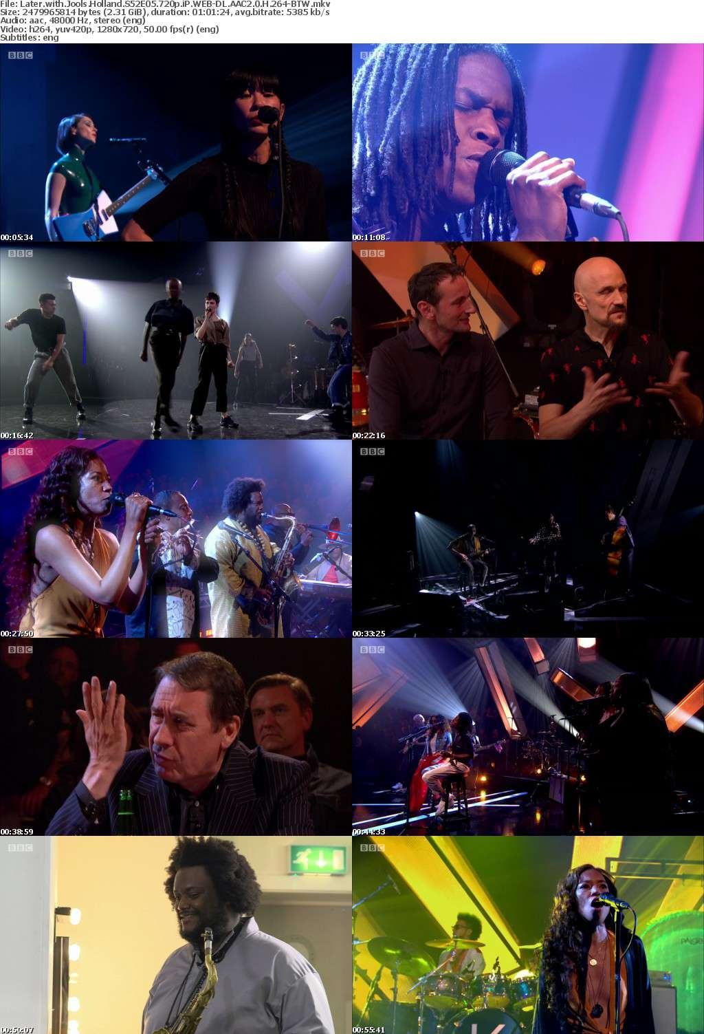 Later with Jools Holland S52E05 720p iP WEB-DL AAC2 0 H 264-BTW