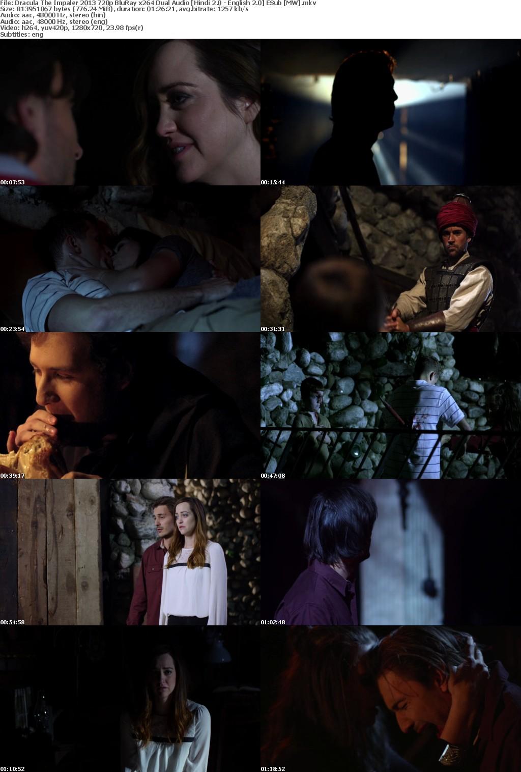 Dracula The Impaler (2013) 720p BluRay x264 Dual Audio [Hindi 2 0 - English 2 0] ESub [MW]