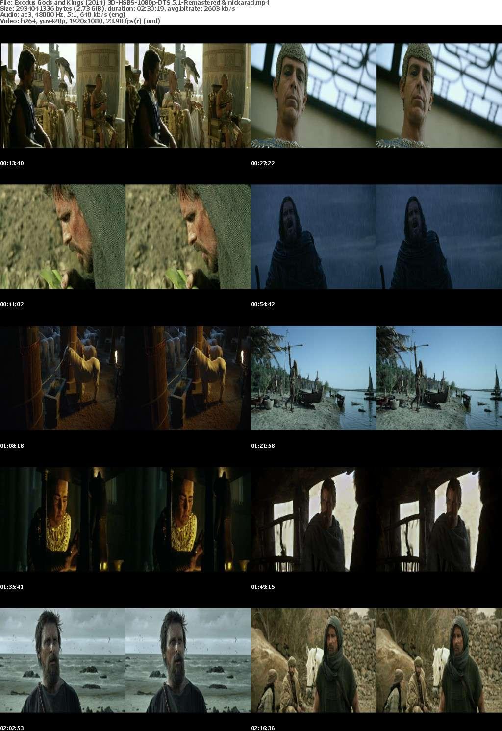 Exodus Gods and Kings (2014) 3D HSBS 1080p BluRay AC3 (DTS 5.1) Remastered-nickarad