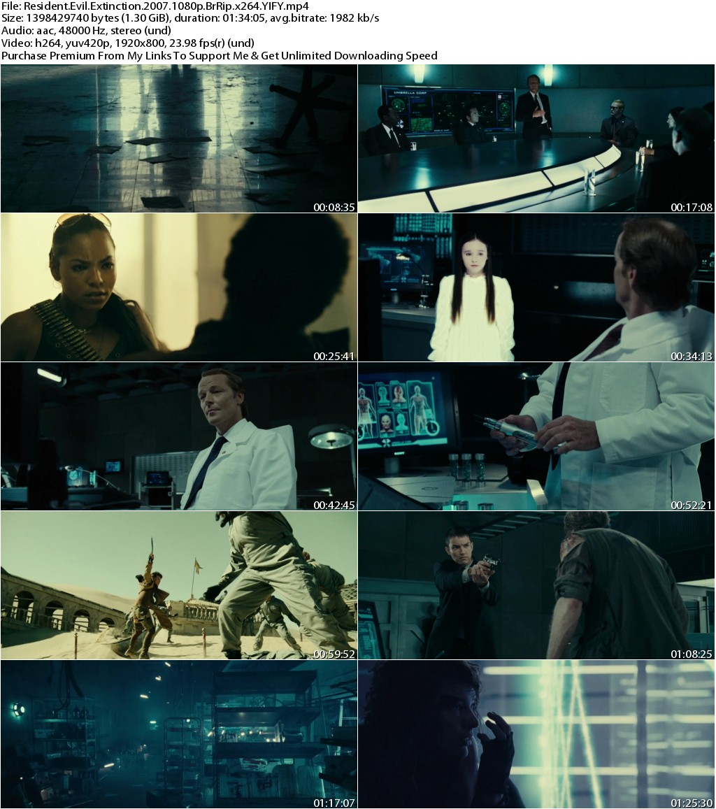 Resident Evil Extinction (2007) 1080p BrRip x264-YIFY