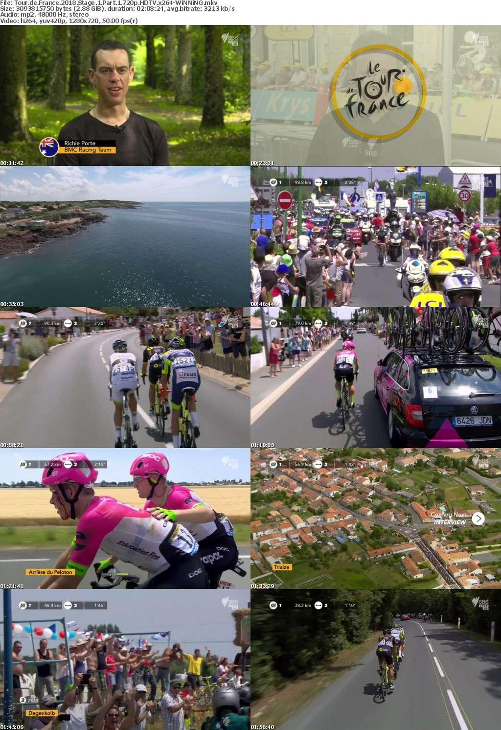 Tour de France 2018 Stage 1 Part 1 720p HDTV x264-WiNNiNG
