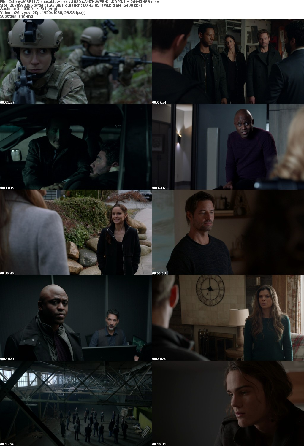 Colony S03E11 Disposable Heroes 1080p AMZN WEB-DL DDP5 1 H 264-KiNGS