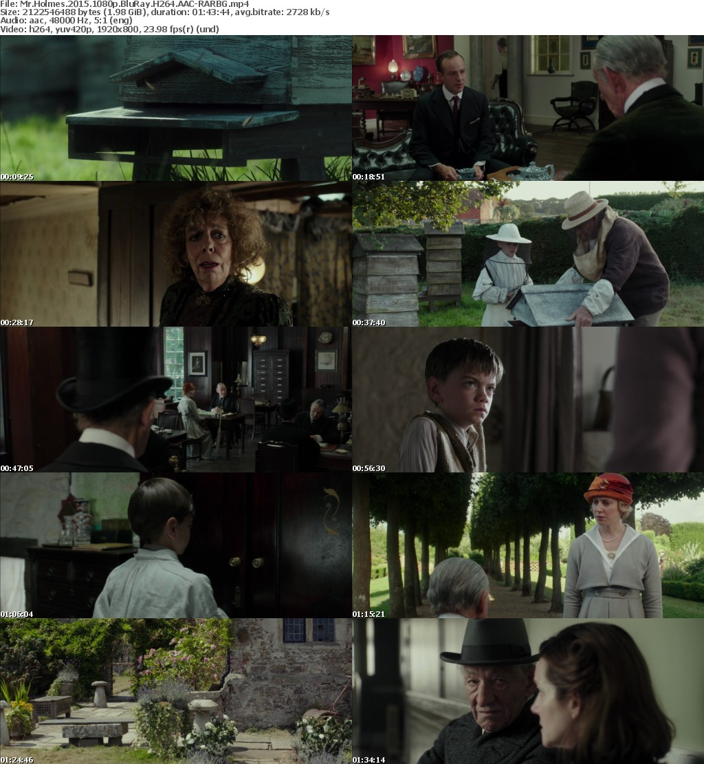 Mr Holmes 2015 1080p BluRay H264 AAC-RARBG