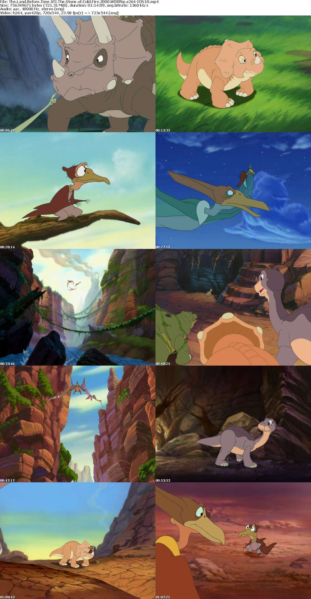 The Land Before Time VII The Stone of Cold Fire 2000 WEBRip x264-ION10