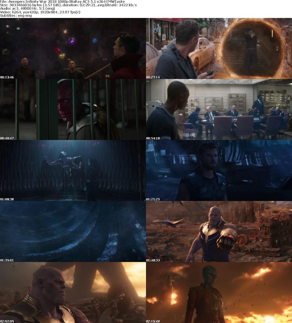 Avengers Infinity War (2018) 1080p BluRay AC3 5.1-MW