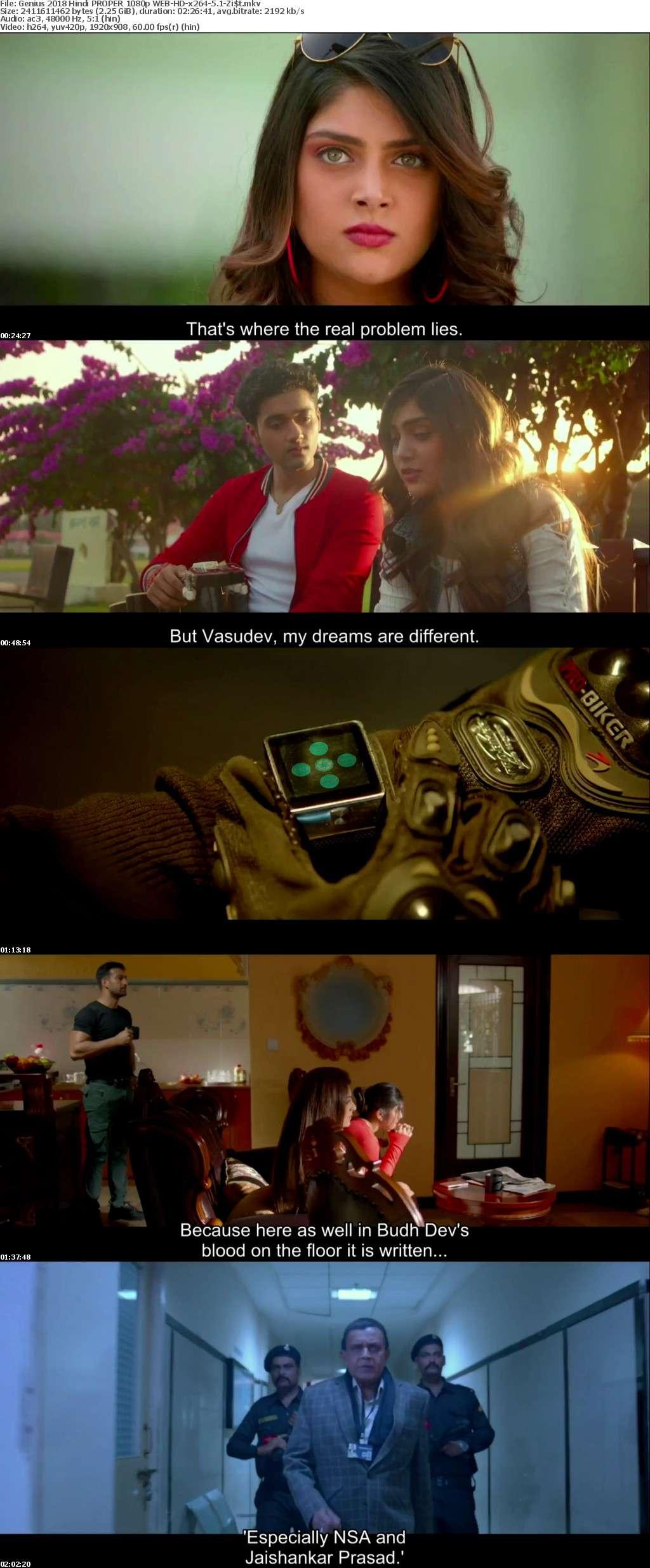 Genius 2018 Hindi PROPER 1080p WEB-HD-x264-5 1-Zist
