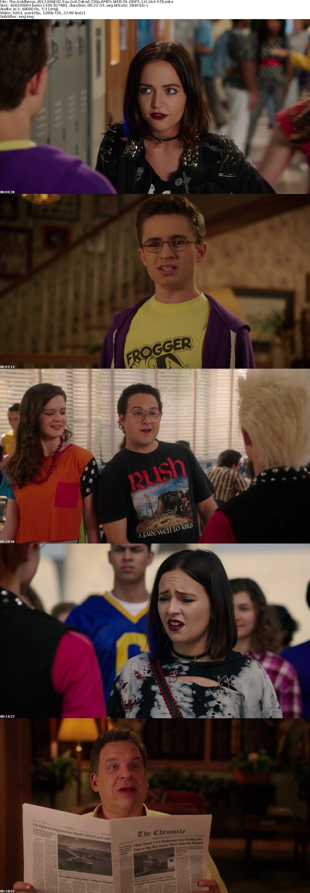 The Goldbergs 2013 S06E02 You Got Zukod 720p AMZN WEB-DL DDP5 1 H 264-NTb