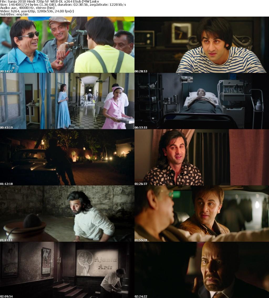 Sanju 2018 Hindi 720p NF WEB-DL x264 ESub MW