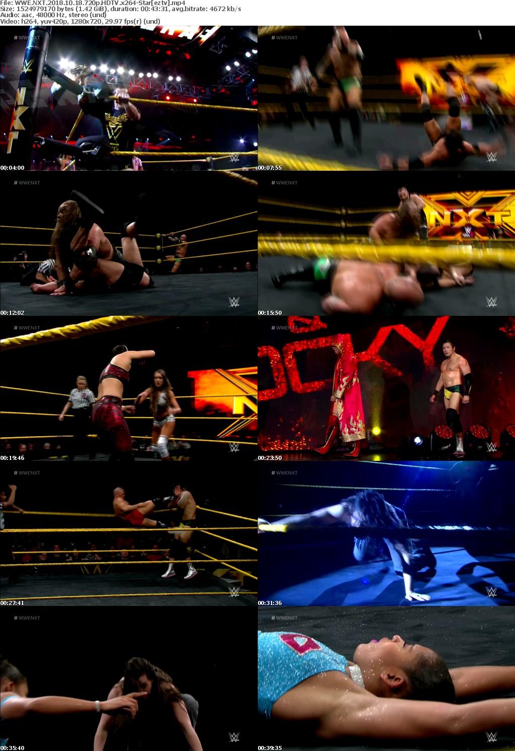 WWE NXT (2018) 10 18 720p HDTV x264-Star