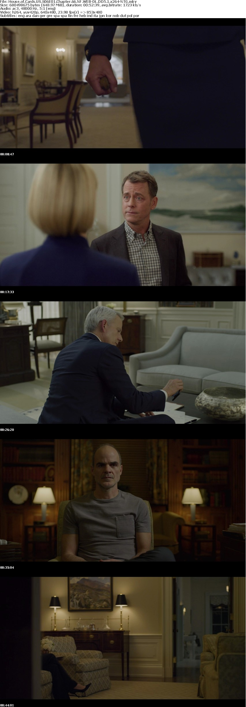 House of Cards US S06 NF WEB-DL DD5 1 x264-NTG