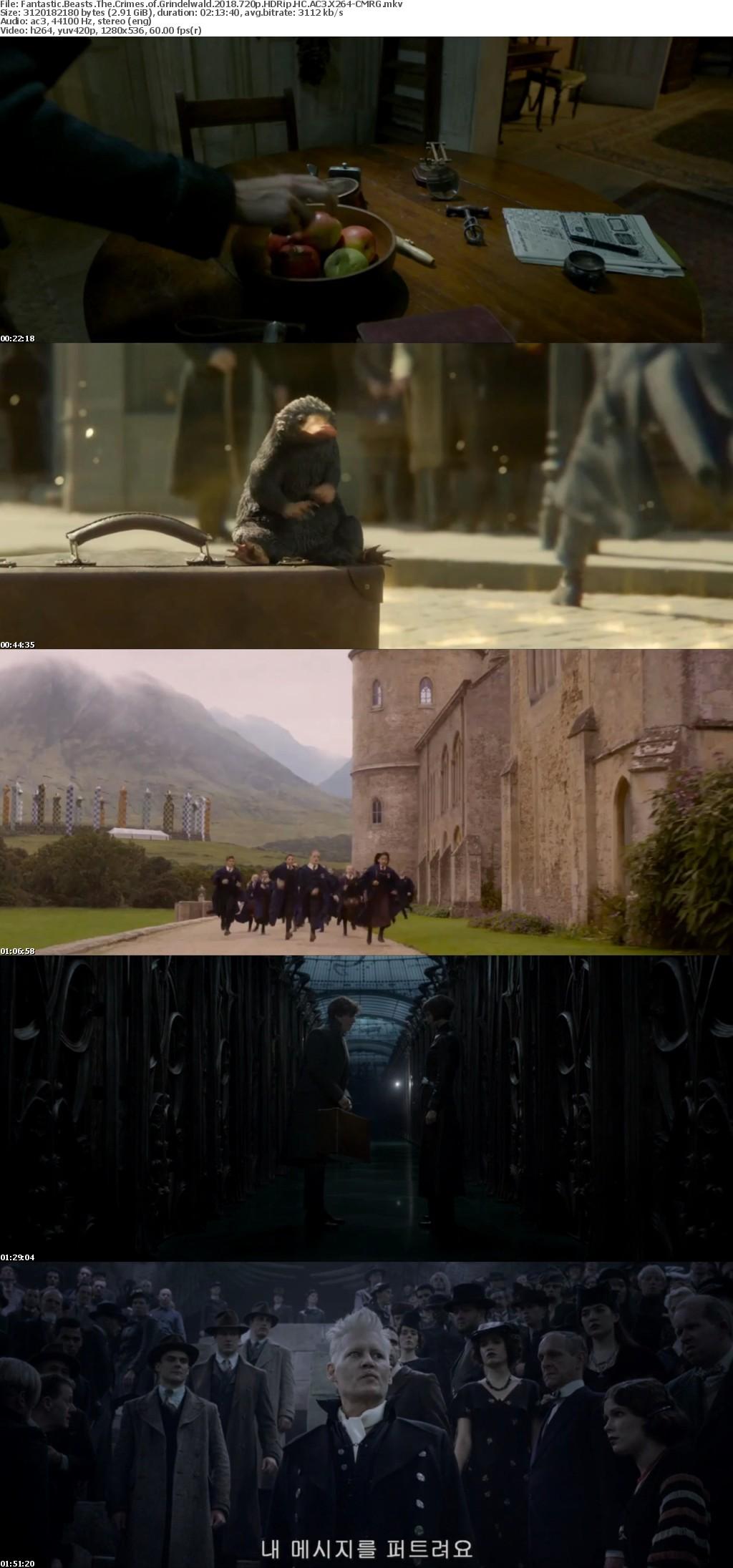 Fantastic Beasts The Crimes of Grindelwald 2018 720p HDRip HC AC3 X264-CMRG[TGx]
