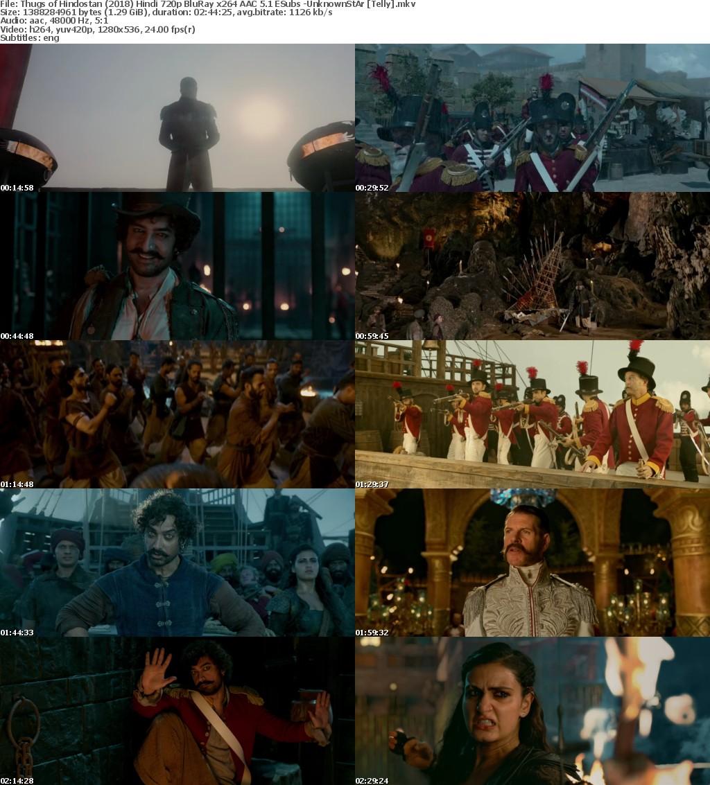 Thugs of Hindostan (2018) Hindi 720p BluRay x264 AAC 5 1 ESubs -UnknownStAr Telly
