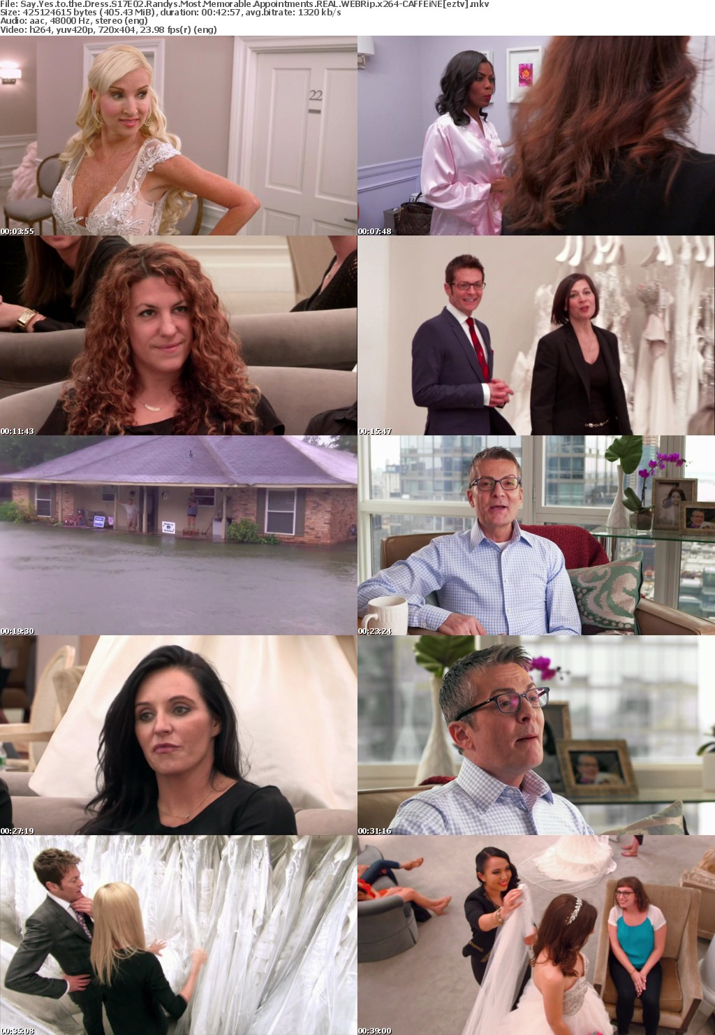 Say Yes to the Dress S17E02 Randys Most Memorable Appointments REAL WEBRip x264-CAFFEiNE