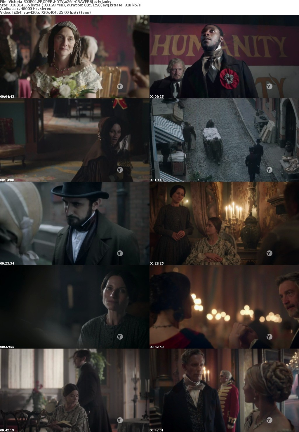 Victoria S03E01 PROPER HDTV x264-CRAVERS