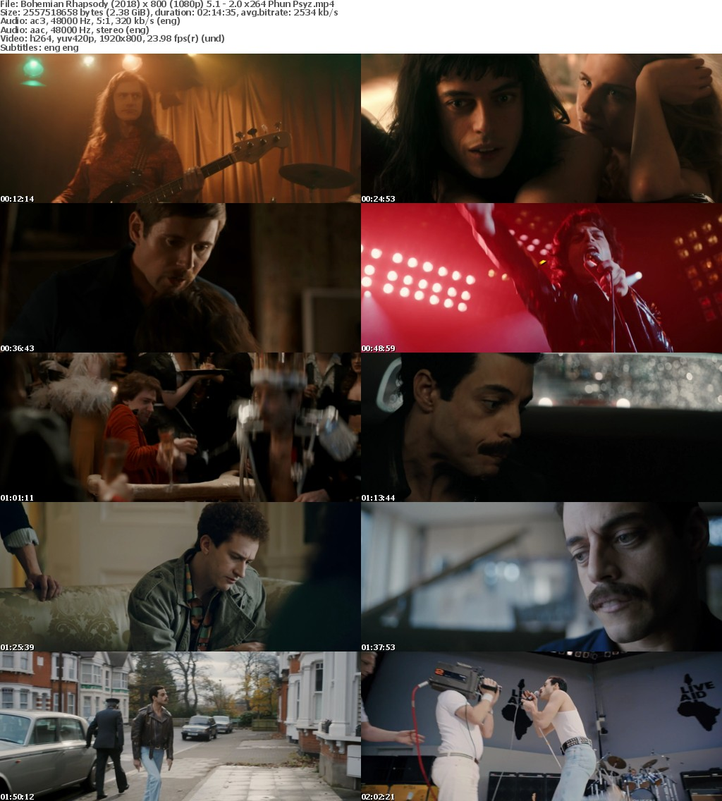 Bohemian Rhapsody (2018) 1080p DVDSCR 5.1-2.0 x264-Phun.Psyz