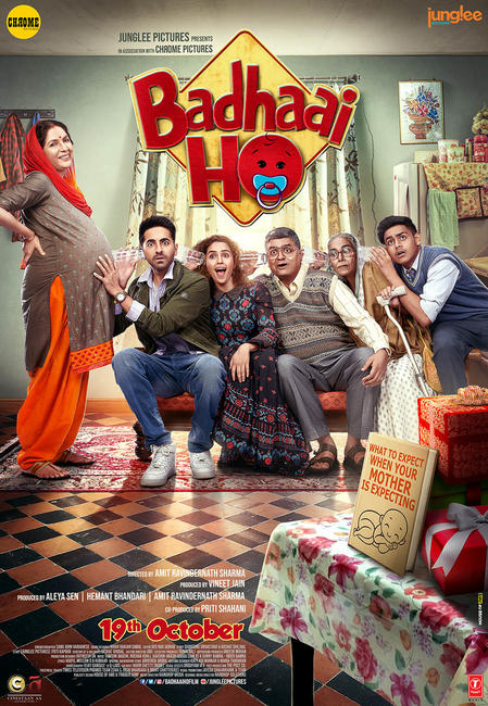 Badhaai Ho 2018 BluRay Hindi 720p x264 AAC 5 1 ESub - mkvCinemas [Telly]