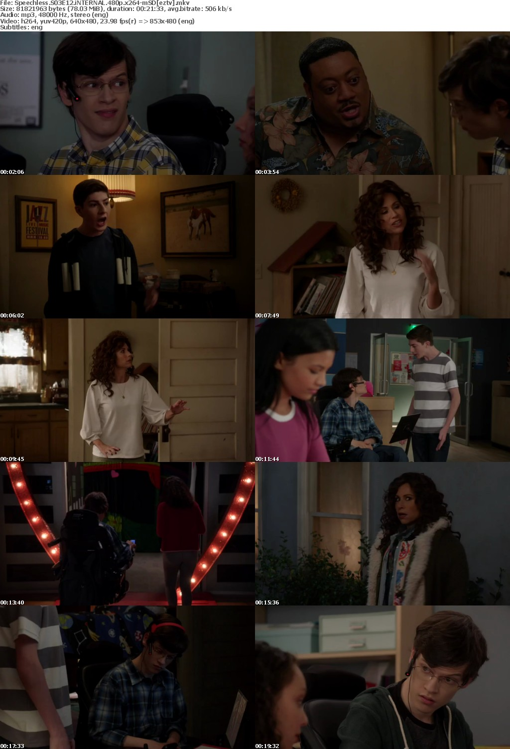 Speechless S03E12 iNTERNAL 480p x264-mSD