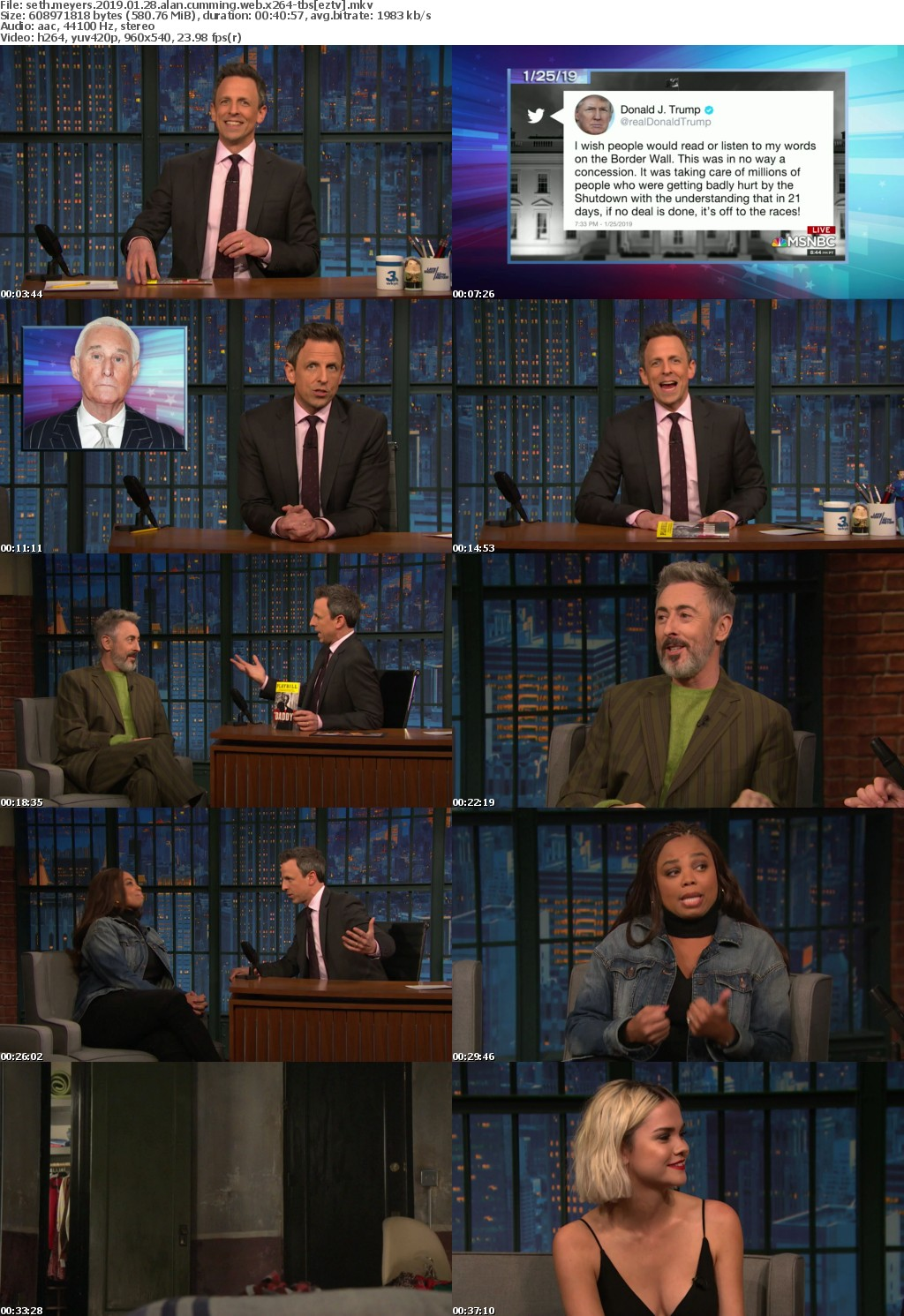 Seth Meyers (2019) 01 28 Alan Cumming WEB x264-TBS
