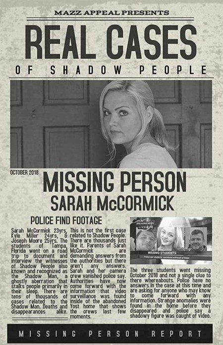 Real Cases of Shadow People The Sarah McCormick Story (2019) HDRip    SHADOW