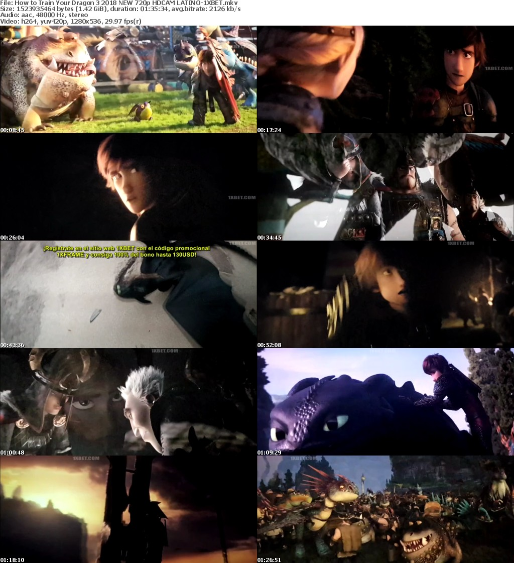 How to Train Your Dragon 3 (2018) NEW 720p HDCAM LATINO-1XBET