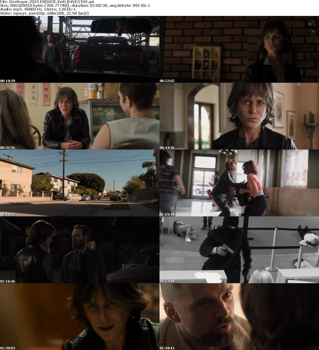 Destroyer (2019) DVDSCR XviD B4ND1T69