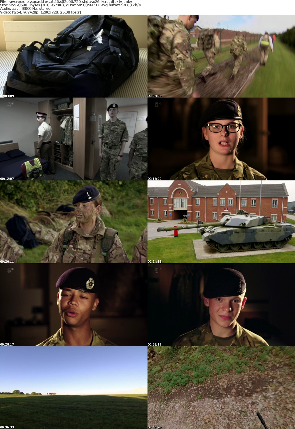 Raw Recruits Squaddies At 16 S02E06 720p HDTV x264-CREED