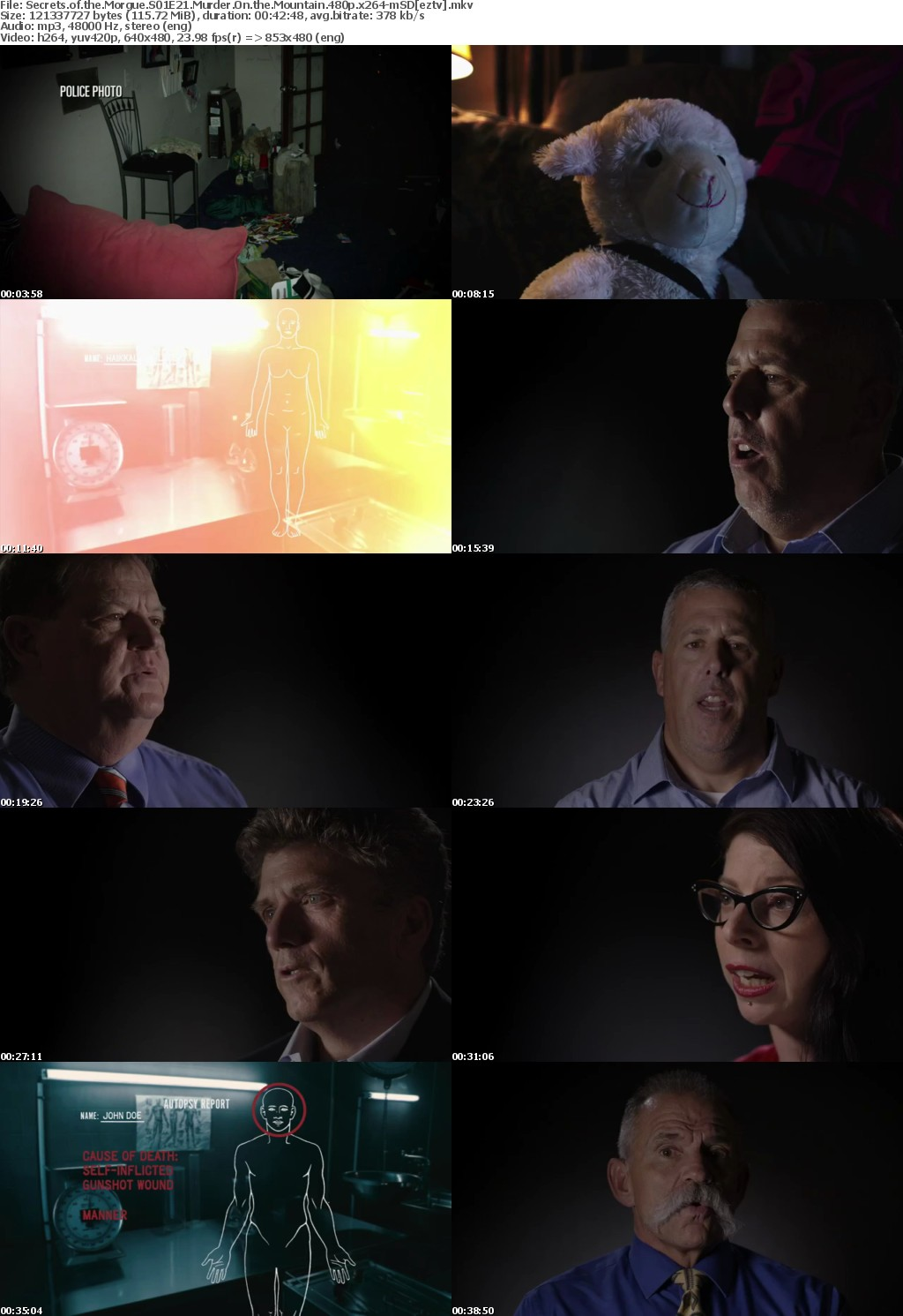 Secrets of the Morgue S01E21 Murder On the Mountain 480p x264-mSD