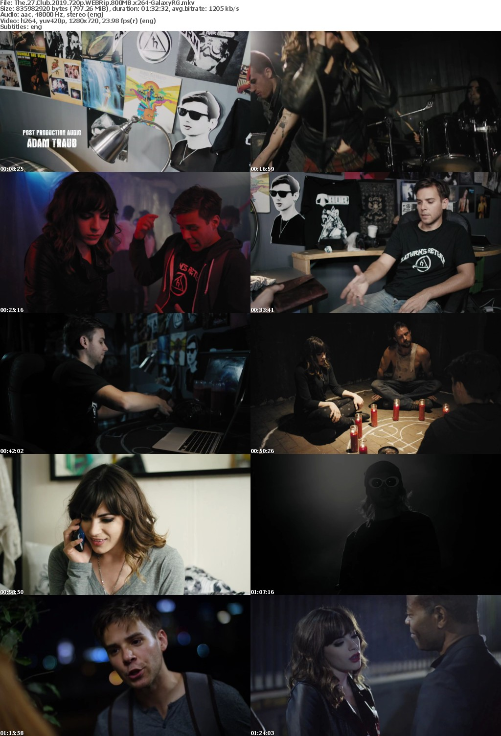 The 27 Club (2019) 720p WEBRip 800MB x264-GalaxyRG