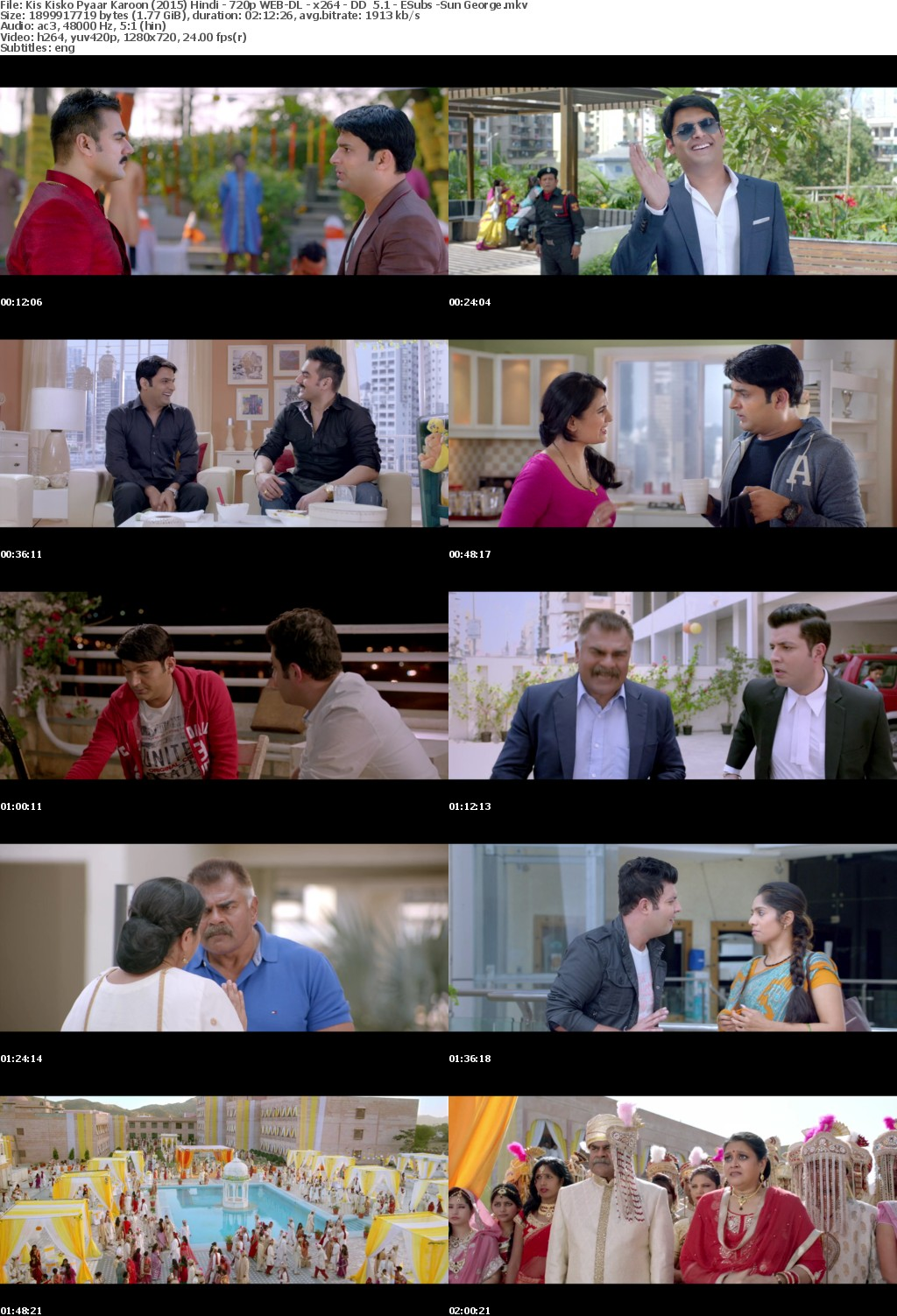 Kis Kisko Pyaar Karoon (2015) Hindi - 720p WEB-DL - x264 - DD 5.1 - ESubs -Sun Ge...