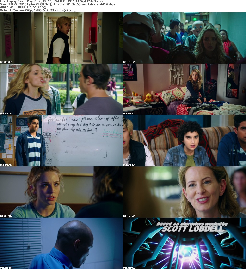 Happy Death Day 2U (2019) 720p WEB-DL DD5.1 H264-CMRG