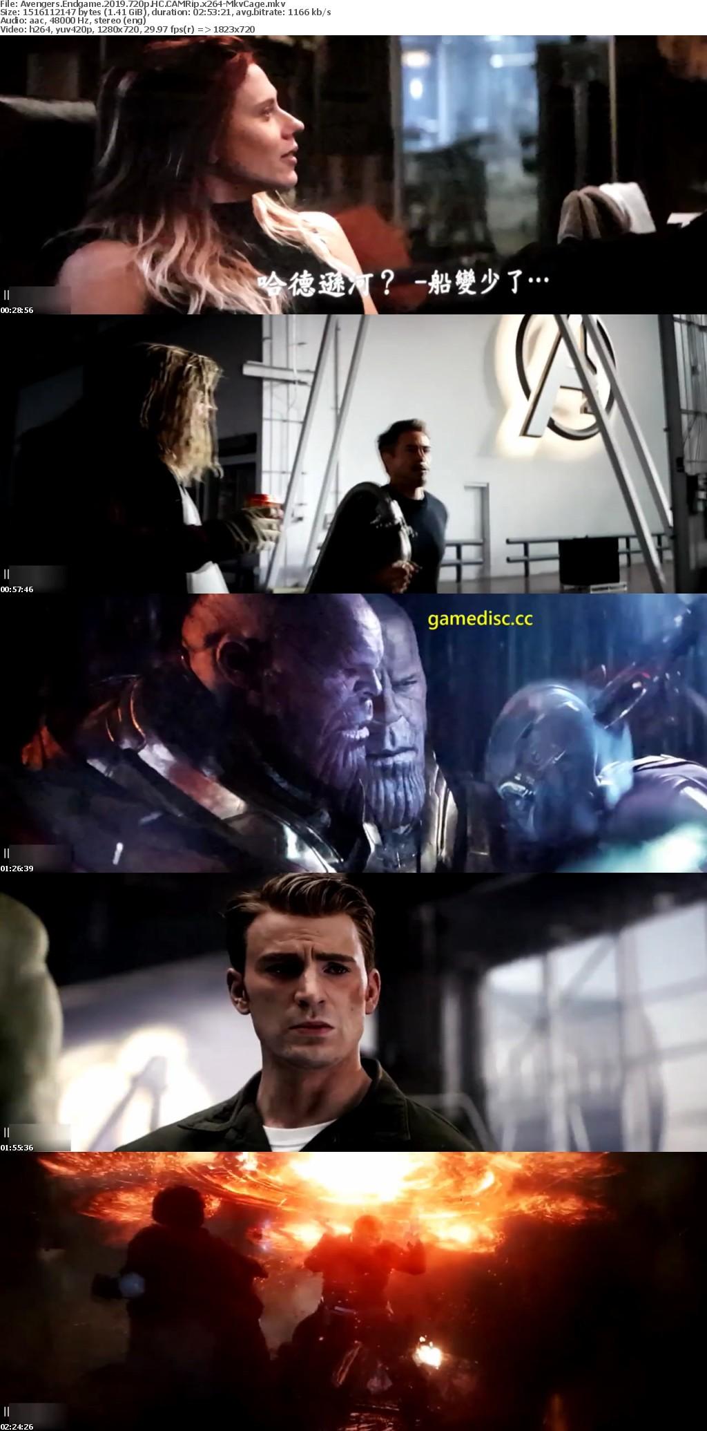 Avengers Endgame 2019 720p HC CAMRip 1 4GB - MkvCage