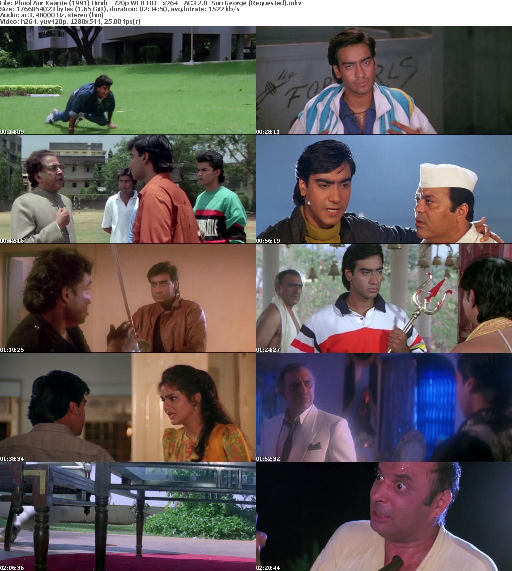 Phool Aur Kaante (1991) Hindi - 720p WEB-HD - x264 - AC3 2.0 -Sun George (Requested)