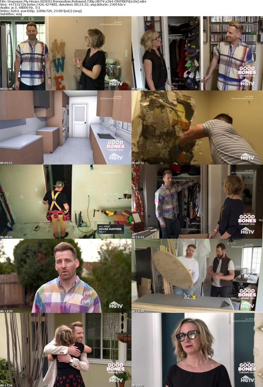 Unspouse My House S01E02 Renovation Rebound 720p HDTV x264-CRiMSON