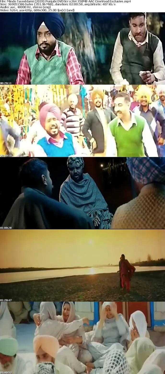 Mindo Taseeldarni (2019) Punjabi DVDScr x264 350MB AAC CineVood Exclusive