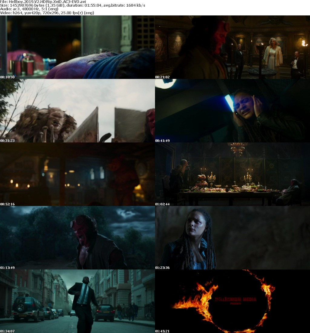 Hellboy (2019) V22 HDRip XviD AC3 EVO