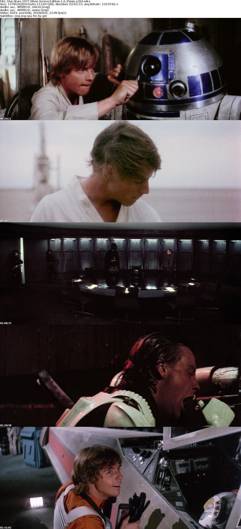 Star Wars 1977 Silver Screen Edition v1 6 35mm x264