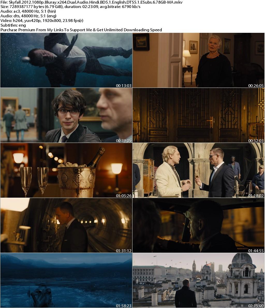 Skyfall (2012) 1080p Bluray x264 Dual Audio Hindi BD5.1 English DTS5.1 ESubs 6.78GB-MA