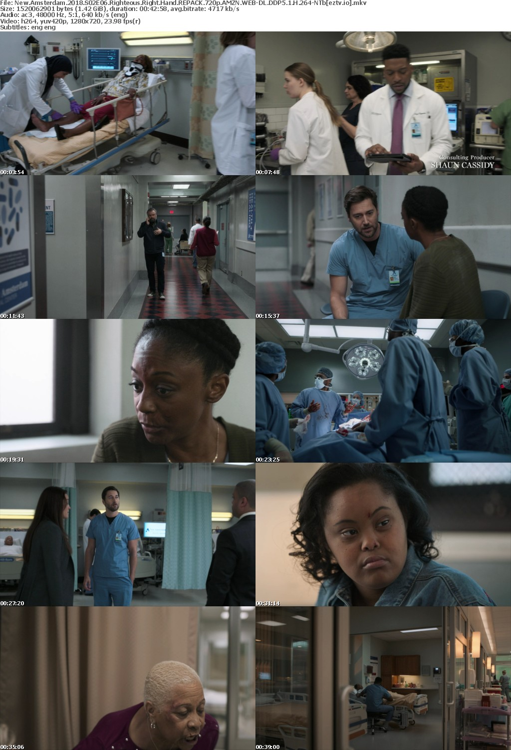 New Amsterdam 2018 S02E06 Righteous Right Hand REPACK 720p AMZN WEB-DL DDP5 1 H 264-NTb