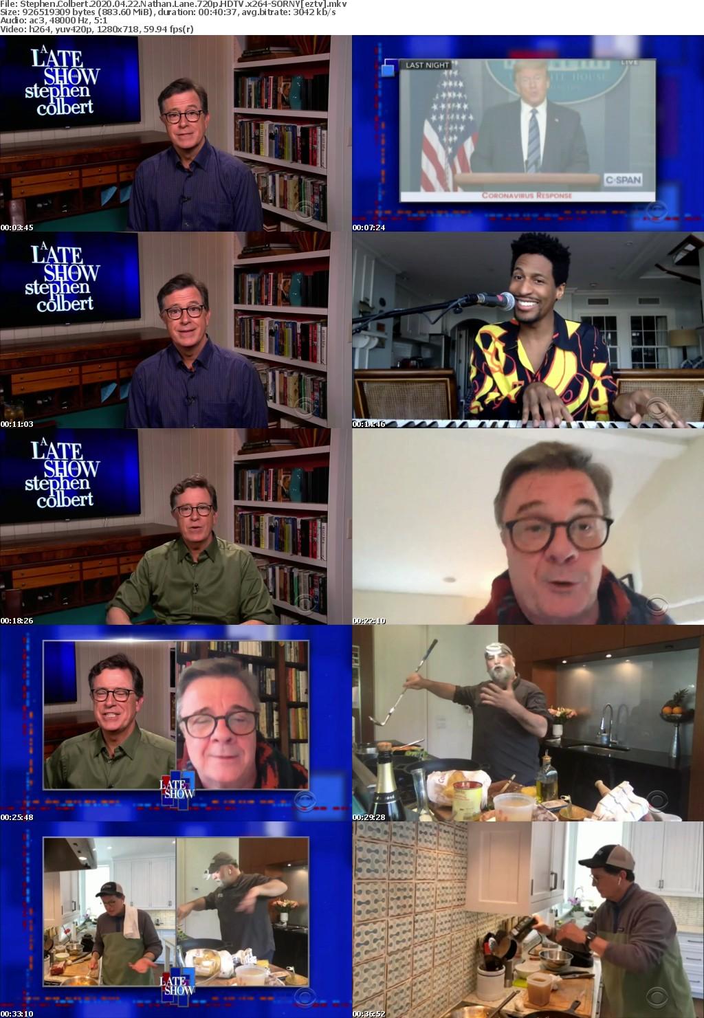 Stephen Colbert 2020 04 22 Nathan Lane 720p HDTV x264-SORNY