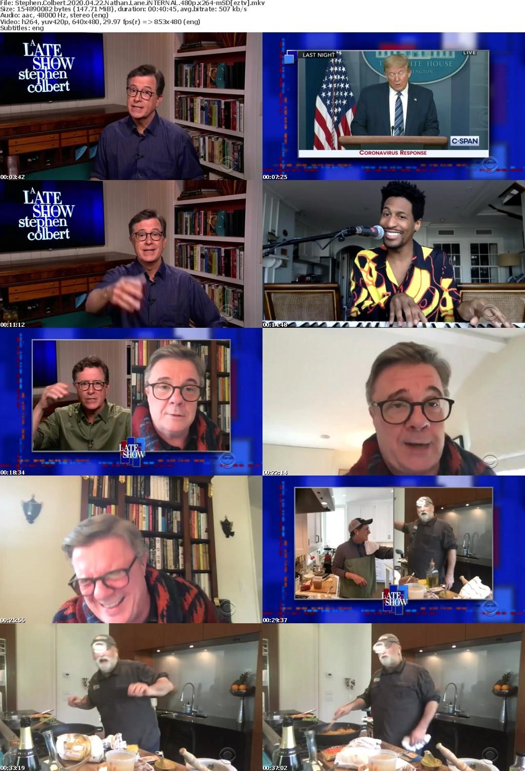 Stephen Colbert 2020 04 22 Nathan Lane iNTERNAL 480p x264-mSD